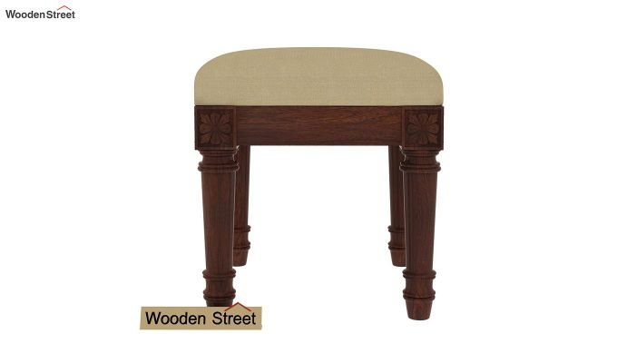 Archivist Stool (Irish Cream, Walnut Finish)-3