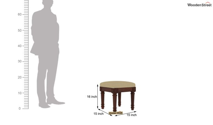 Archivist Stool (Irish Cream, Walnut Finish)-4