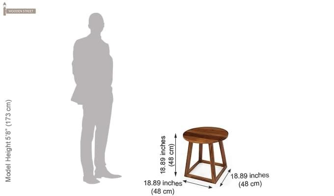 Axis Stool (Teak Finish)-5