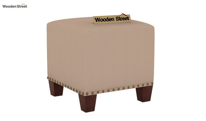 Bolt Stool (Walnut Finish, Irish Cream)-2