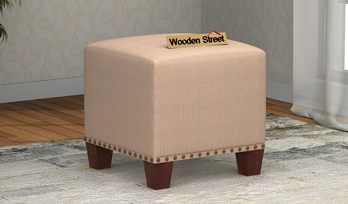 Bolt Stool (Walnut Finish, Irish Cream)-1