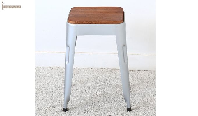 Britney Stool (Teak Finish)-2