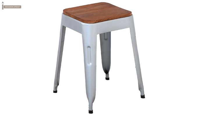 Britney Stool (Teak Finish)-4