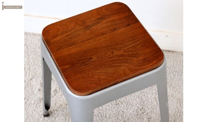Britney Stool (Teak Finish)-5