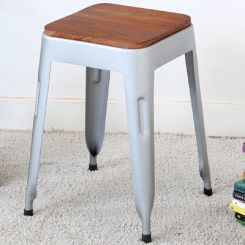 Britney Stool (Teak Finish)