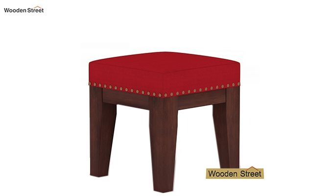 Clan Stool (Walnut Finish, Dusky Rose)-2