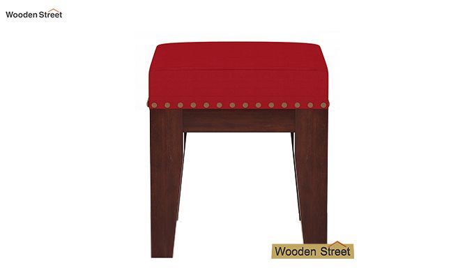 Clan Stool (Walnut Finish, Dusky Rose)-3