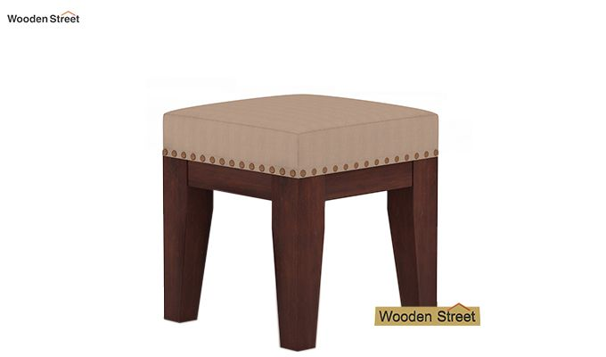 Clan Stool (Walnut Finish, Irish Cream)-2