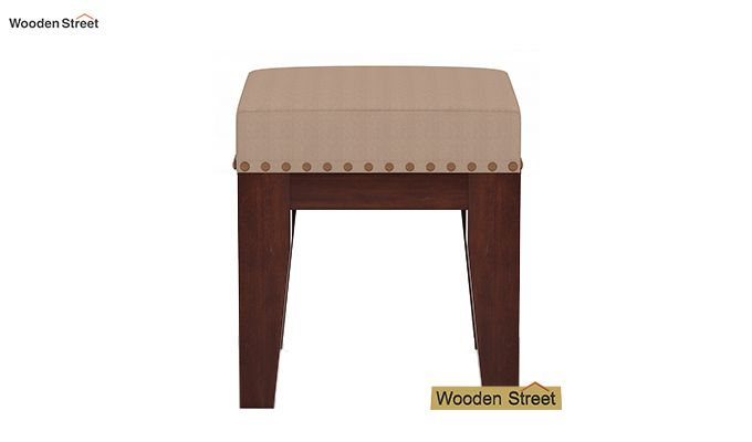 Clan Stool (Walnut Finish, Irish Cream)-3