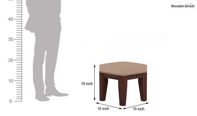 Clan Stool (Walnut Finish, Irish Cream)-4