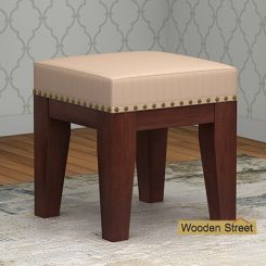Clan Stool (Walnut Finish, Irish Cream)