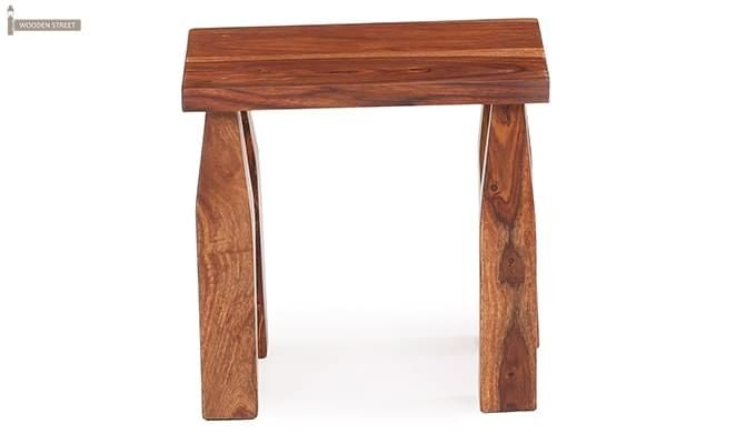 Clory Stool (Teak Finish)-1