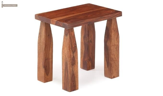 Clory Stool (Teak Finish)-3