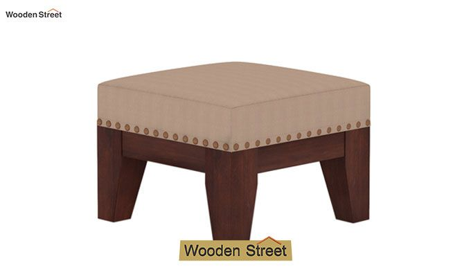 Ditor Stool (Walnut Finish, Irish Cream)-2