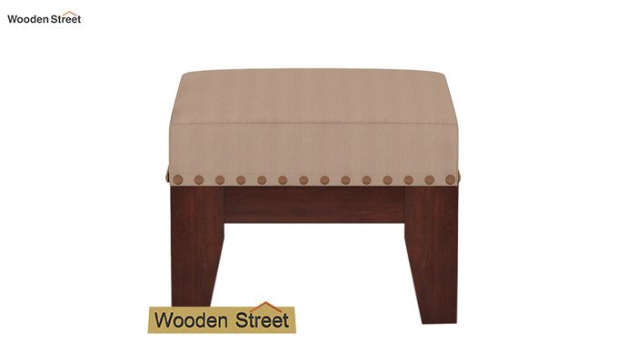Ditor Stool (Walnut Finish, Irish Cream)-3