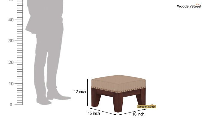 Ditor Stool (Walnut Finish, Irish Cream)-4