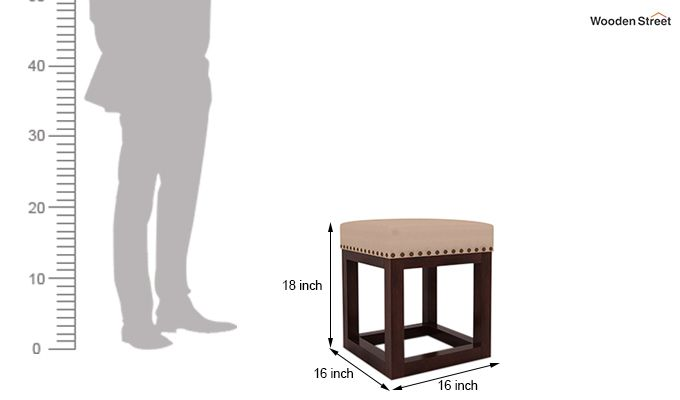 Darcy Stool (Walnut Finish, Irish Cream)-4