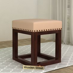 Darcy Stool (Walnut Finish, Irish Cream)