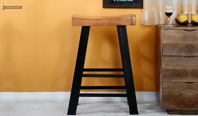 Doust Stool (Black Finish)-1