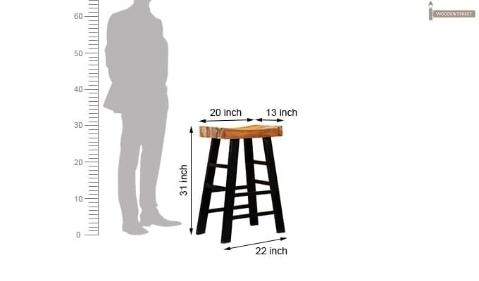 Doust Stool (Black Finish)-4