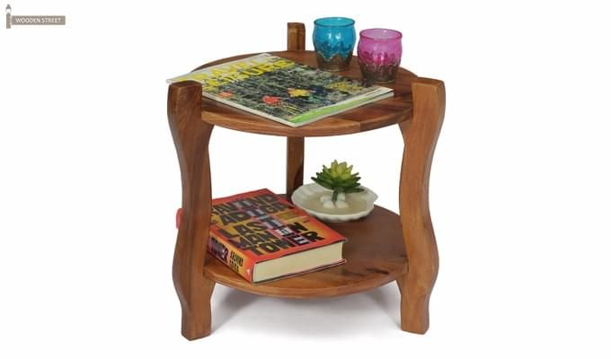 Finch Stool (Teak Finish)-1
