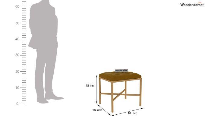 Floss Cross-Legged Stool (Chestnut Brown)-4