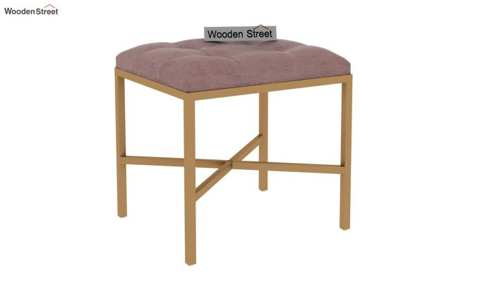 Floss Cross-Legged Stool (Salmon Pink)-2