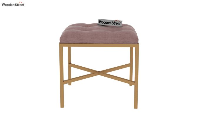 Floss Cross-Legged Stool (Salmon Pink)-3