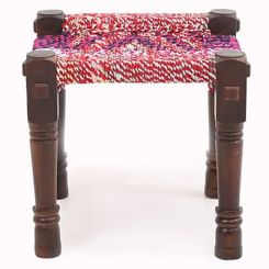 Hamil Side Stool (Walnut  Finish)