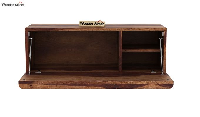 Ace Wall-Mounted Study Table (Teak Finish)-6