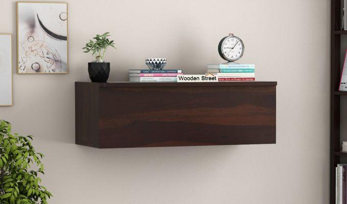 Ace Wall-Mounted Study Table (Walnut Finish)-2