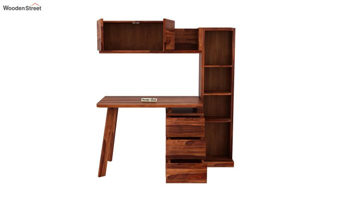 Adolf Study Table With Drawers (Honey Finish)-7
