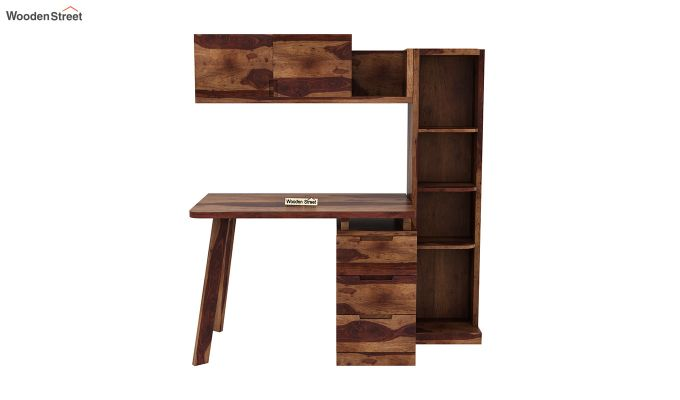 Adolf Kids Study Table With Drawers (Teak Finish)-3
