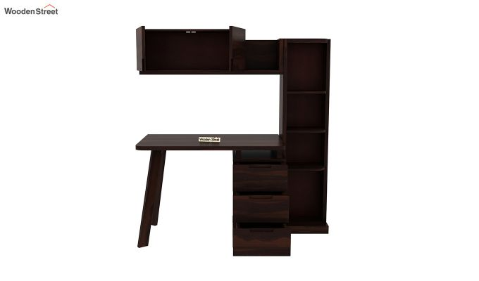 Grande Study Table With Drawers (Walnut Finish)-7