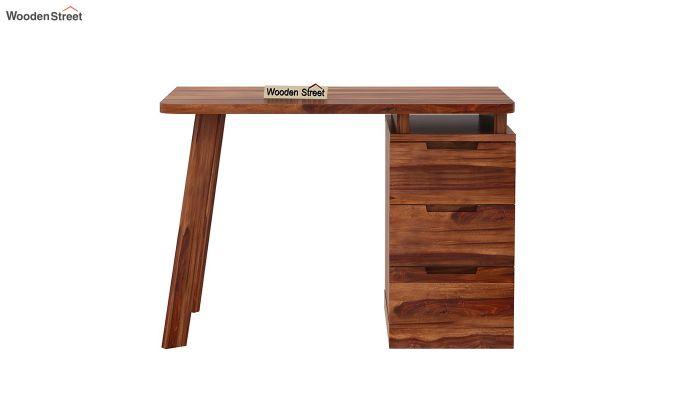 Adolf Study Table With Drawers (Teak Finish)-8