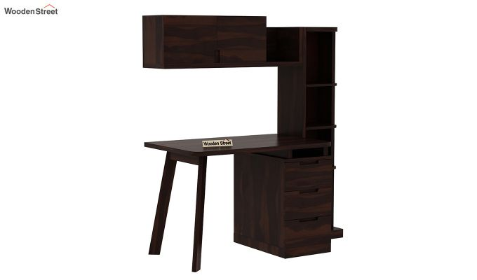 Adolf Study Table With Drawers (Walnut Finish)-4
