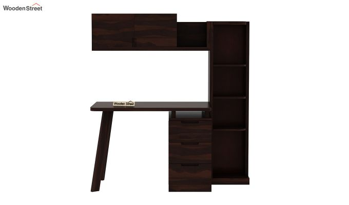 Adolf Study Table With Drawers (Walnut Finish)-5