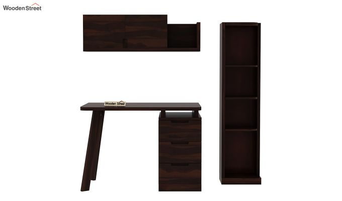 Adolf Study Table With Drawers (Walnut Finish)-6