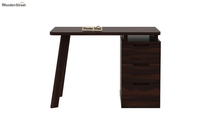Adolf Study Table With Drawers (Walnut Finish)-8
