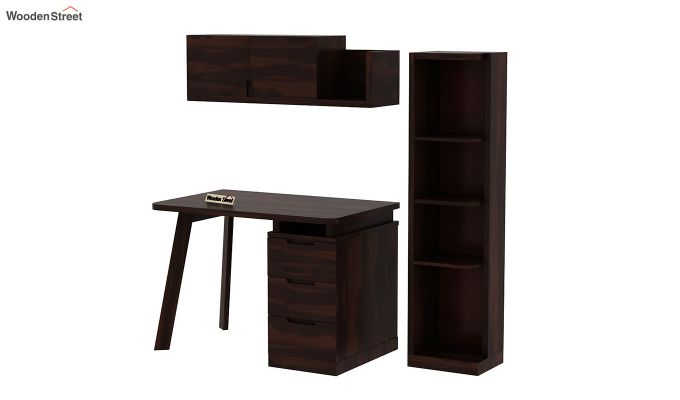 Adolf Study Table With Drawers (Walnut Finish)-9