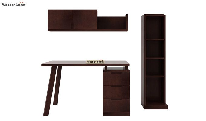 Adolf Study Table With Drawers (Walnut Finish)-7