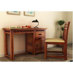 Adolph Study Table (Honey Finish)