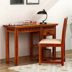 Adolph Study Table (Honey Finish)
