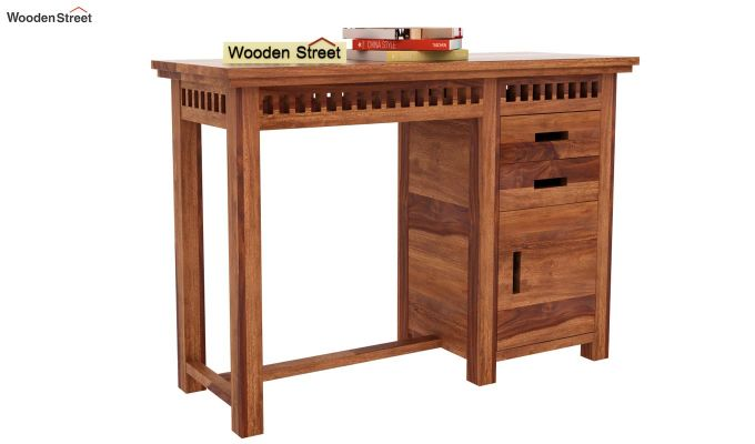 Adolph Study Table (Teak Finish)-1
