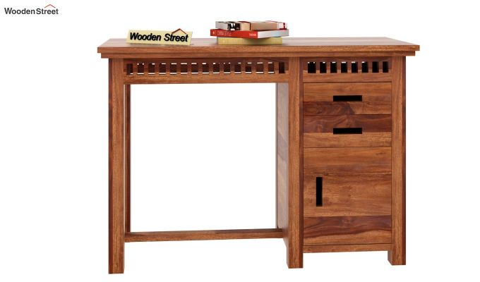 Adolph Study Table (Teak Finish)-2