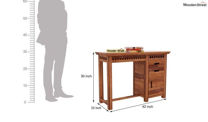 Adolph Study Table (Teak Finish)-4