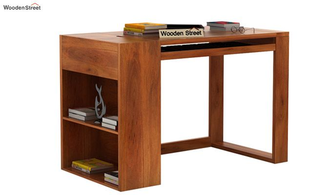 Alkin Study Table (Honey Finish)-1