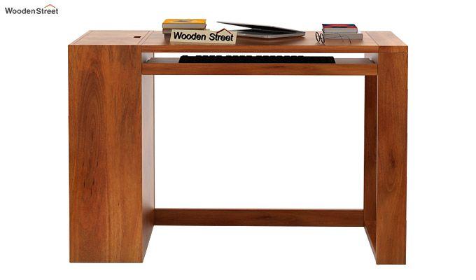Alkin Office Table (Honey Finish)-2