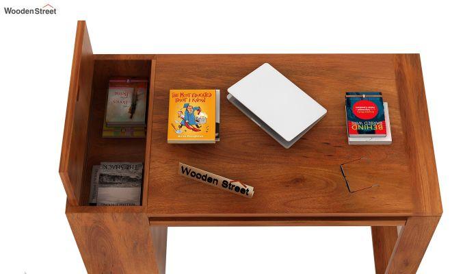 Alkin Office Table (Honey Finish)-4