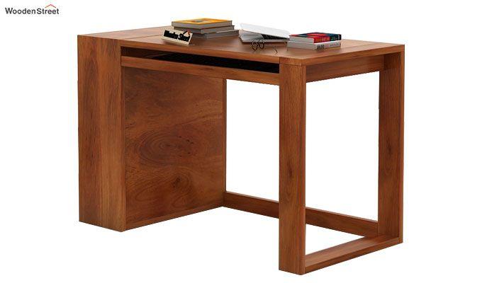 Alkin Office Table (Honey Finish)-5